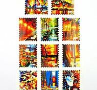 Adesivi stampa di trasferimento dell'acqua chiodo decalcomanie 1x11pcs fiume per decorazioni di arte del chiodo del chiodo (25 * 16 * 0,1 centimetri)