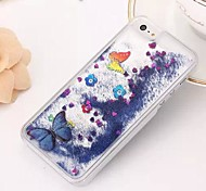 Fashion Transparent Glitter Sand Bling Quicksand Butterfly Pattern Case Cover for iPhone 6(Assorted Colors)