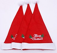 28cm Width Christmas Hat with Delicate Embroid 3pcs (Random Decorations)