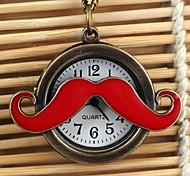 orologio modello baffi annata quadrante bianco neckleace di quarzo analogico delle donne (colori assortiti)