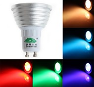 Zweihnde GU10 3 W 1 Dip LED 200-250 LM RGB S Dimmable/Remote-Controlled/Decorative Spot Lights AC 85-265 V