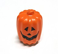 Halloween Long Type Two-sided LED Jack-o-lantern Pumpkin Lamp - Orang Red + White + Black (5 x AAA)