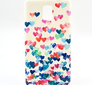 Colorful Heart TPU Soft Case for Samsung Galaxy Note 4