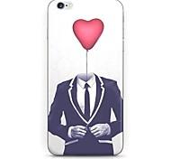 coração padrão terno cove duro para o iPhone 6