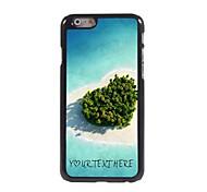 персонализированные телефон случае - сердце случай море металлическая конструкция для Iphone 6