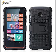 Hybrid TPU+PC Kick Stand Phone Case Covers Shell Cover for Nokia Lumia 630/635 (Assorted Colors)