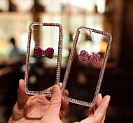 The Purple Crystal Bowknot with Diamond Hard Back Cover for iPhone 4/4S  (Assorted Colors)
