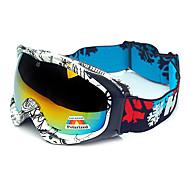 hb negro&protección marco blanco polarizado gafas de nieve
