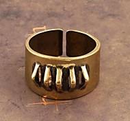 Z&X®  Vintage Punk Contracted Rivet Copper Men's Ring