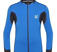 Men's Spring and Autumn Polyester and Spandex Long Sleeve Cycling Jersey
