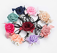 1PC Korean Sweet Flower Ponytail Holders(Random Color)