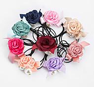 Détenteurs 1pc coréen de fleurs doux de queue de cheval (couleur aléatoire)