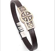 style punk quatre crânes bracelet en cuir d'alliage (1 pc)