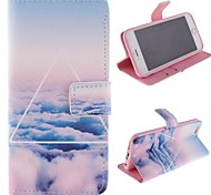 Only Beautiful Cloud Design PU Full Body Case with Stand with Card Slot for iPhone 6