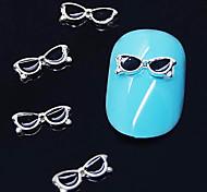 10шт черные очки формировать 3d сплава украшения искусства ногтя
