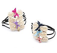 1pc Korean Bowknot and Pearls Headband(Random Color)