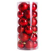 24pcs nochi quatro centímetros bolas de natal bola natal luz bola banhado enfeites de natal bola (cores sortidas)