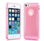 Ultra-thin 0.3mm Flash Powder Small Waist Diamond Mobile Phone Protective Sleeve for iPhone 5/5S(Assorted Colors)