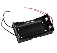 DIY 2-Slot Series 18650 Battery Holder w/ 4 Leads