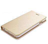 grain ultra fin de tréfilage pu cas complète du corps avec Stand pour iPhone 6 (couleurs assorties)