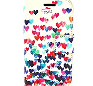 Colorful Heart PU Leather Hard Case with Card Slots for Samsung Galaxy Trend Duos S7562