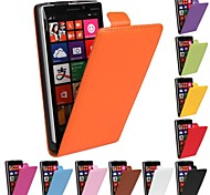 Flip-Open Design Solid Color Genuine Leather Full Body Case for Nokia 930 (Assorted Colors)