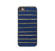 étui rigide bleu rayures design en aluminium pour iPhone 4 / 4S
