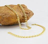 18K Golden Plated Necklace Bracelet Jewelry set