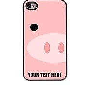 Personalized Phone Case - Pig Snout Design Metal Case for iPhone 4/4S