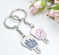 Personalized Engraving Ice Cream Metal Couple Keychain