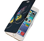 Color Butterfly Magnetic Flip Full Body Case with Hole for iPhone 6