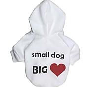 """lovely """"pequena escavação grande amor"""" padrão Polares hoodies t-shirt para cães (tamanhos variados)"""