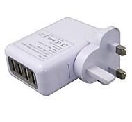 4 USB UK Plug AC power Travel Home Charger 2.1A for Cellphone
