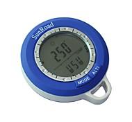 neue 6 in 1 digital wasserdicht lcd Kompasse Höhenmesser Barometer Thermometer Uhr Angeln