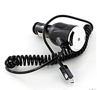 Spiral Cable Micro USB Car Power Charger for Samsung Galaxy and Other Cellphones