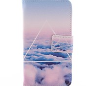 The Sky Triangle Pattern PU Leahter Case with Film,Stylus and Dust Plug for Nokia Lumia 630/635