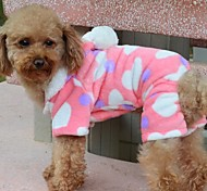 Fashion Dog Puppy Clothes Hoodie Sweater Costumes Coat  Pink Hearts for Pet Dog