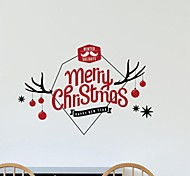 Christmas Decoration Originality Merry Christmas Letters PVC Window Stickers