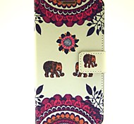 The Baby Elephant Pattern PU Leather Case with Stand Card for Samsung Galaxy Note3 N9000