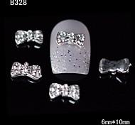 10pcs 3d nail design del rhinestone della lega papillon chiodo diy decorazione di arte