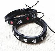z&x® punky pulseras ocasionales de los hombres hechos a mano de cuero (1pc, color al azar)
