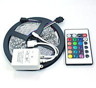 5M 150X5050 SMD RGB LED Strip Light with 24Key Remote Controller (DC12V)