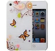 Mehrfarbenmuster pc gebürstetem Case für iPhone 4 / 4s