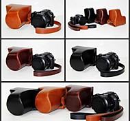 pajiatu cámara de cuero funda protectora cubierta de la bolsa retro de la PU con la correa para Sony DSC-RX10 cámara Cyber-shot RX10 digitales