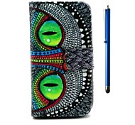 4.5 Inch Owl Pattern Wallet PU Leather Case and Pen for LG L70