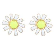 European Style Idyllic Romantic Daisy Flower Earrings