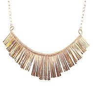 jane Stein Gold Fan Fashion-Statement Halskette