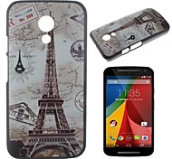 Maps and the Eiffel Tower Pattern PC Hard Case for Motorola Moto G2/XT1063