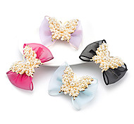 1pc Korean Bowknot and Pearl Barrette(Random Color)