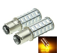 1142 20W 36X5730SMD 800-1200LM Yellow Light Led Bulb for Car Turn Lamp(A pair/AC12-16V)